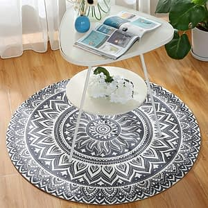 Microfiber Stylish Circle Rug