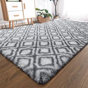 Fluffy Living Room Rug