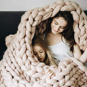 cozy chunky knit blanket