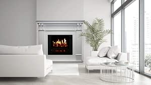 high quality realistic fireplace