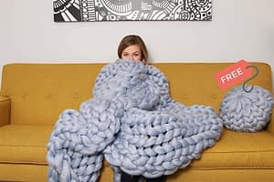 Chunky knit with pillow cover