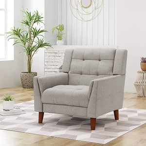 Soft Fabric Accent Chair