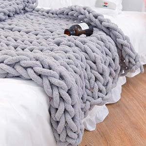 chenille chunky knit blanket